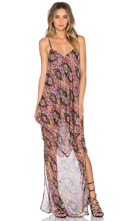 The Allflower Creative Height Maxi Dress in Multi Scarf Print