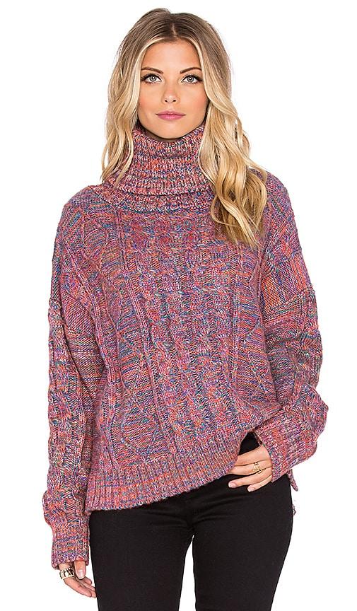 The Allflower Creative Thankful Turtleneck Sweater in Multi
