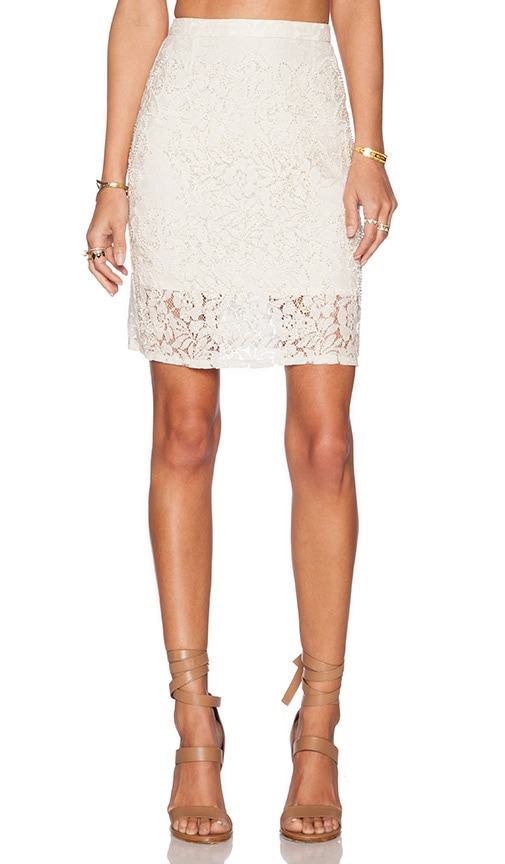The Allflower Creative Holiday Lace Skirt in Cream