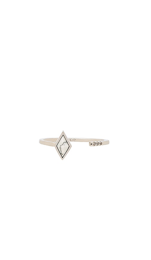 Wanderlust + Co Aurora Bar Ring in Metallic Silver