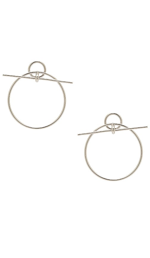 Wanderlust + Co Loop Earring in Metallic Silver