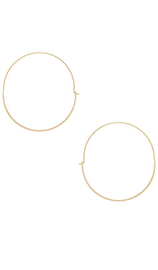 Wanderlust + Co Full Circle Hoop Earring in Metallic Gold