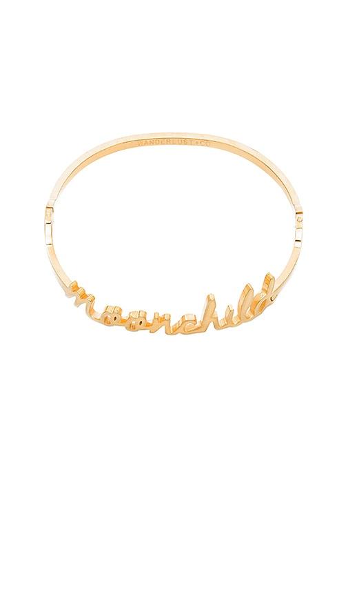 Wanderlust + Co Moonchild Bangle in Metallic Gold
