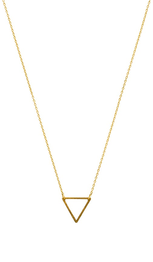 Frame Triangle Necklace