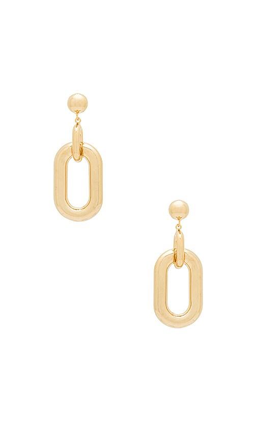 Wanderlust + Co Chain Link Earrings in Metallic Gold