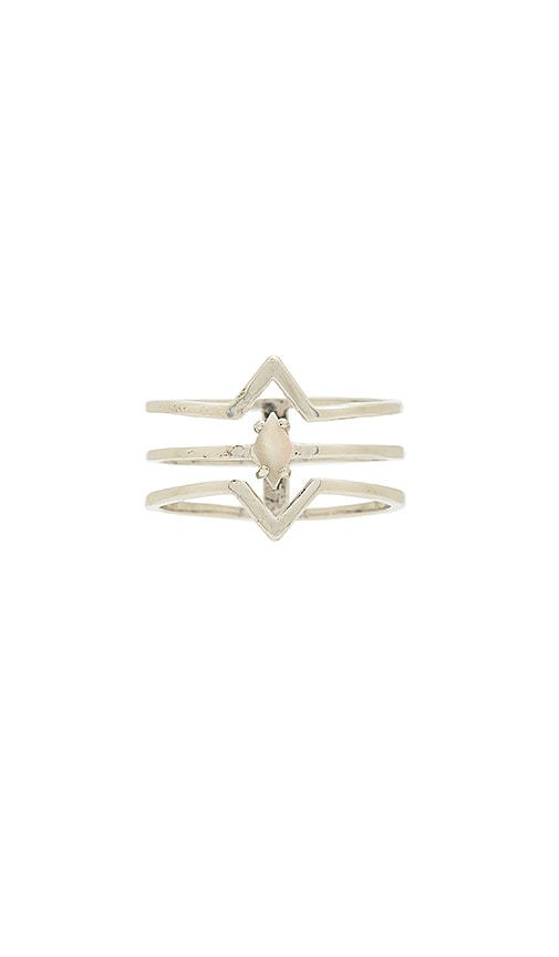 Wanderlust + Co Astrid Ring in Metallic Silver