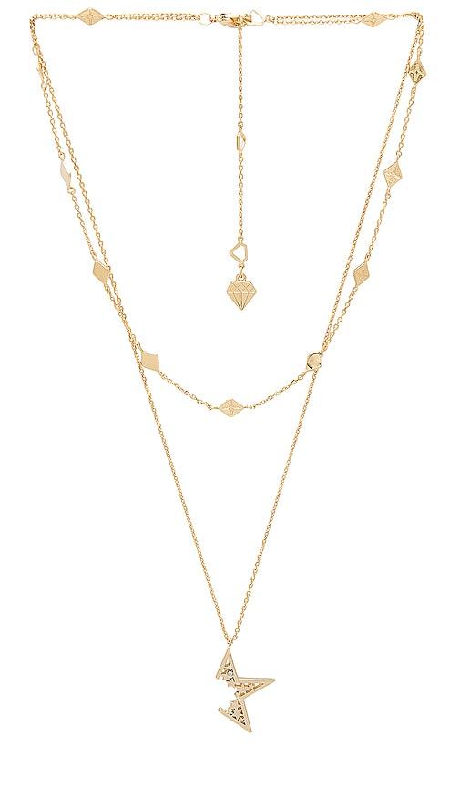 Wanderlust + Co Nova Necklace in Gold