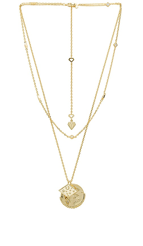 Wanderlust + Co Ines Double Necklace in Gold