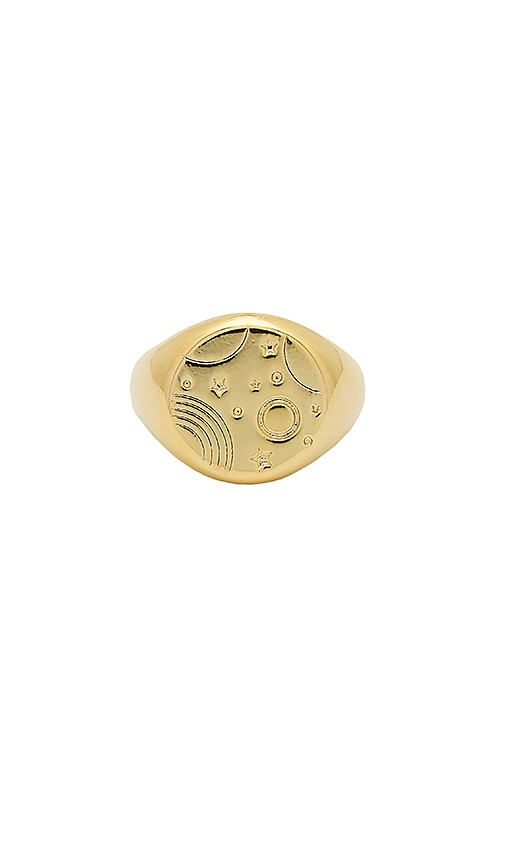 Orbit Signet Ring by Wanderlust + Co