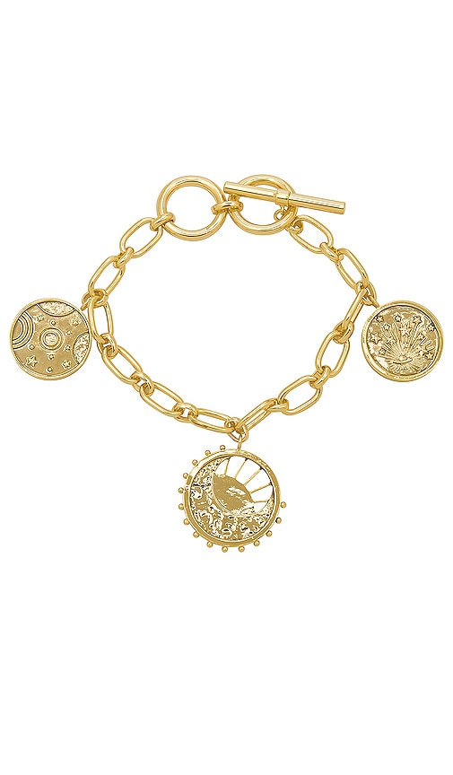Wanderlust + Co Out Of This World Toggle Bracelet in Gold