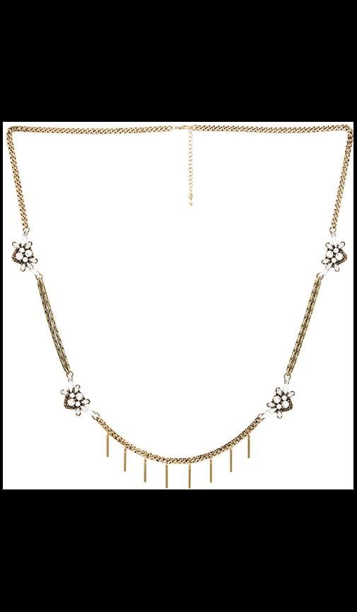 Wanderlust + Co Busy Bee Multi Pendant Necklace in Gold