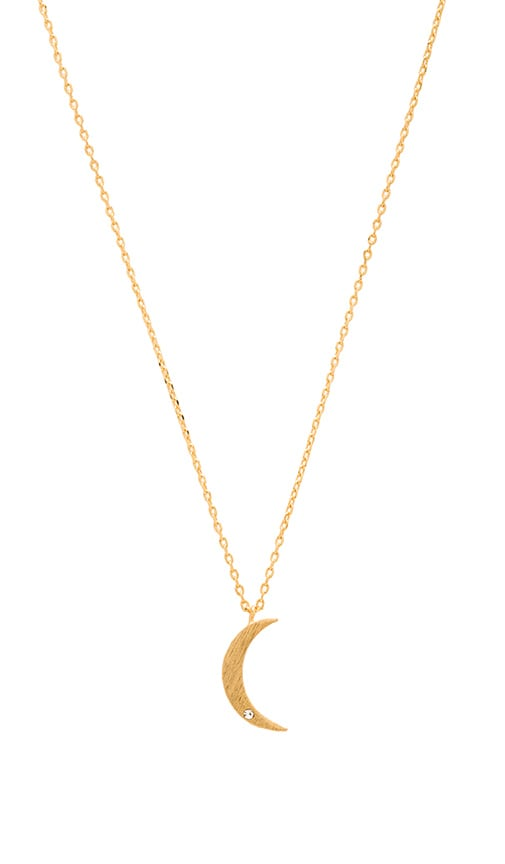 Crescent and Diamante Necklace