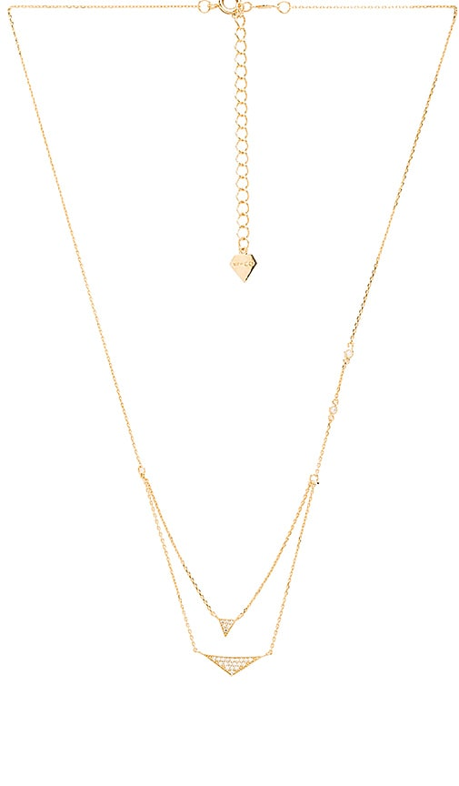 Wanderlust + Co Tri Pave Layered Necklace in Gold