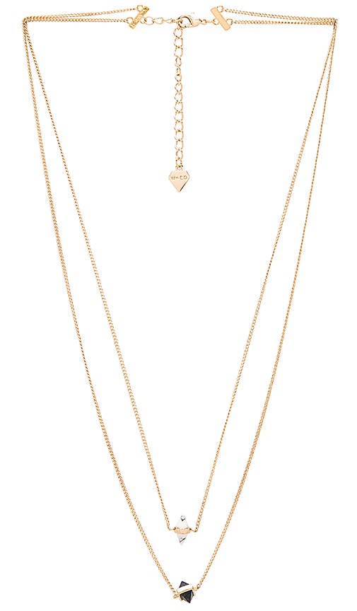 Wanderlust + Co Calista Layered Necklace in Metallic Gold
