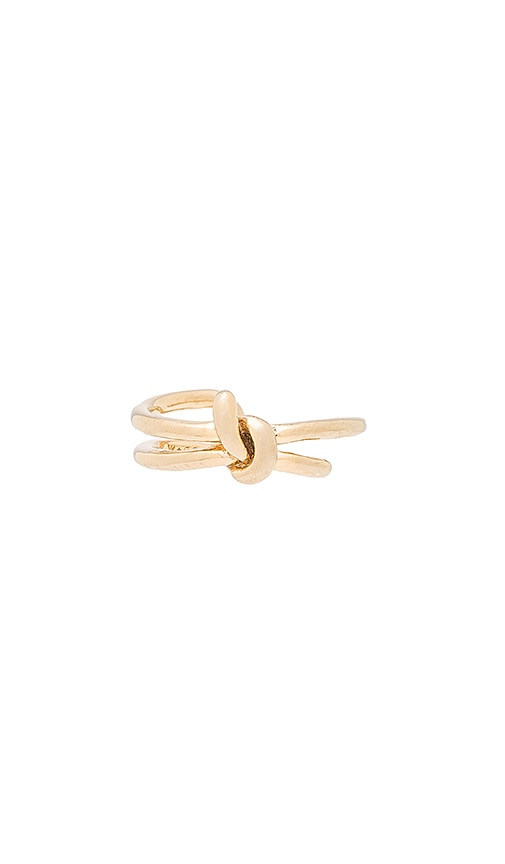 Wanderlust + Co Knot Ring in Metallic Gold