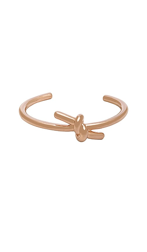 Wanderlust + Co XL Knot Cuff in Metallic Copper