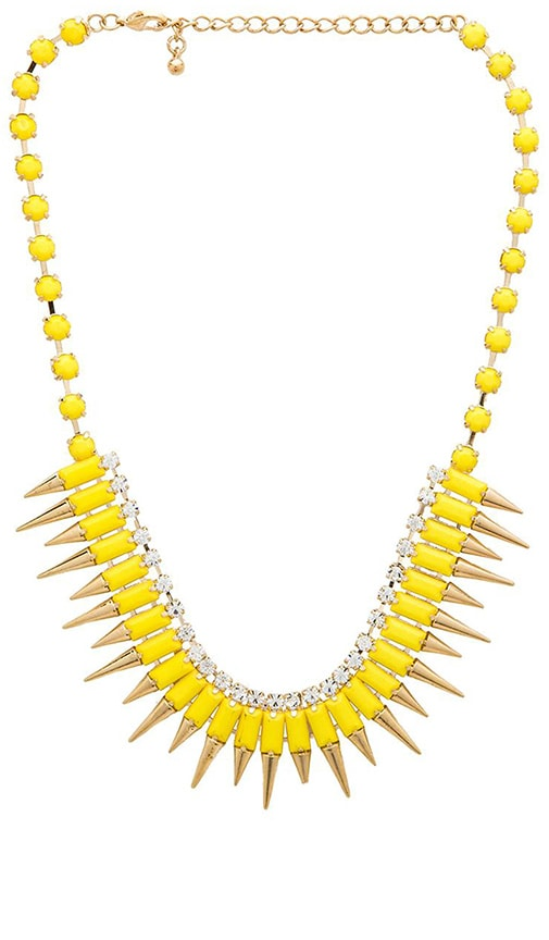 Multi Spike Bib Necklace