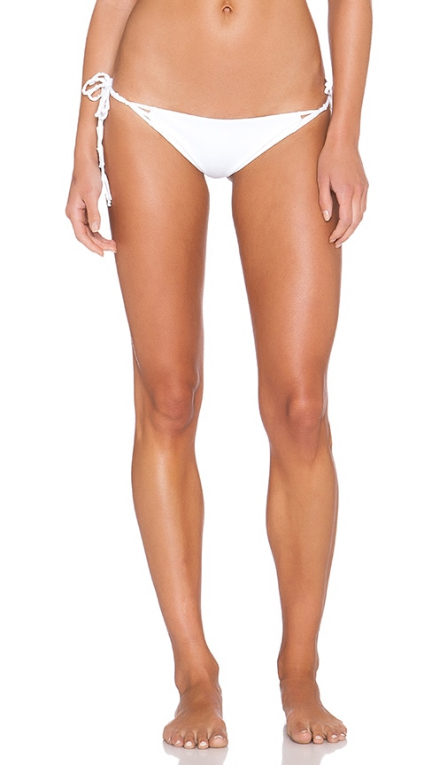 WATER GLAMOUR Knotted Tie Bikini Bottom in White