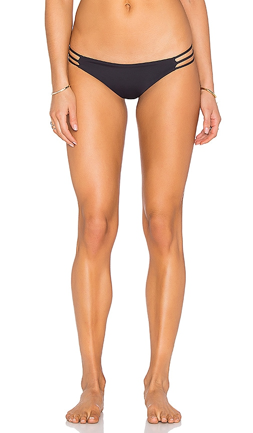 WATER GLAMOUR Mia Itsy Reversible Bikini Bottom in Black