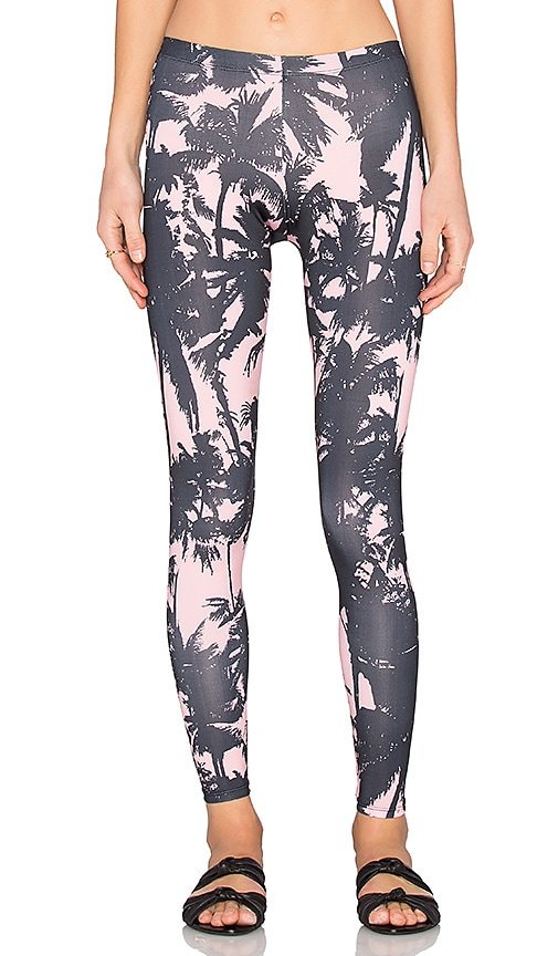 WATER GLAMOUR Charlie Legging in Pink Palm & Black