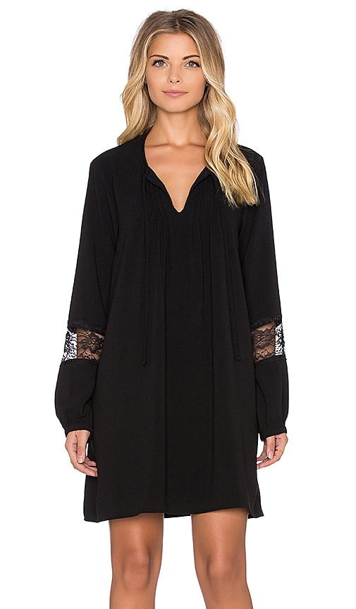 WAYF A Line Dress in Black