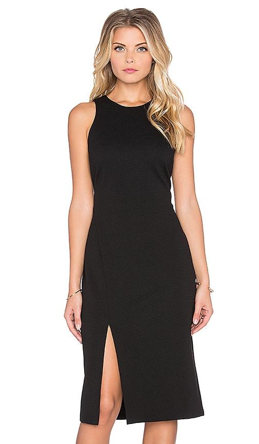 WAYF Slit Bodycon Dress in Black