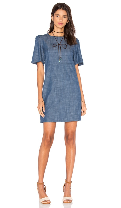 WAYF A Line Dress in Chambray