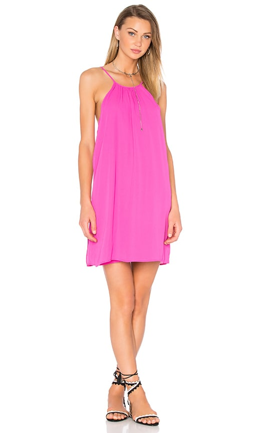 WAYF Tank Dress in Fuchsia