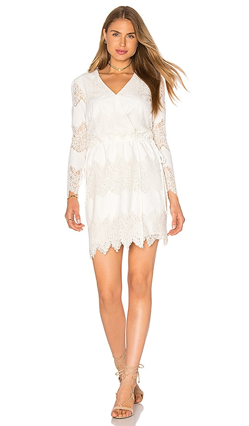 WAYF White Shores Wrap Dress in White