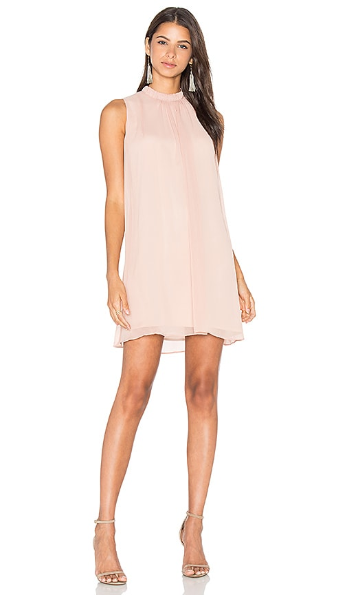 WAYF Sugar Dust Ruffle Dress in Blush