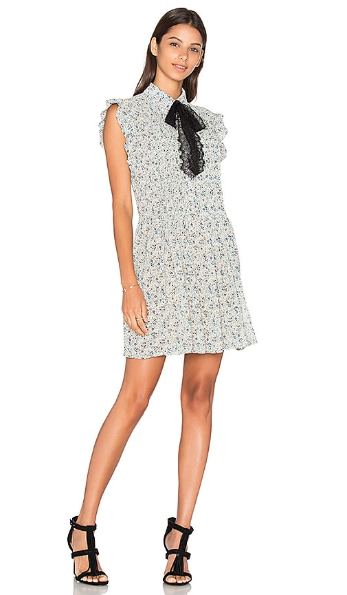 WAYF Paxton Shirt Dress in Blue