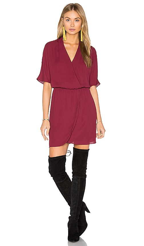 WAYF Sutherland Dolman Wrap Dress in Burgundy