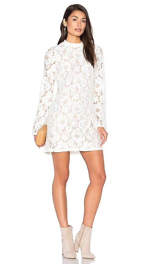 WAYF Belvue Lace Dress in Ivory