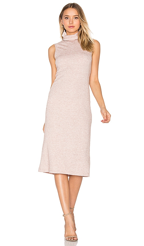 WAYF Cast Away Knit Dress in Blush