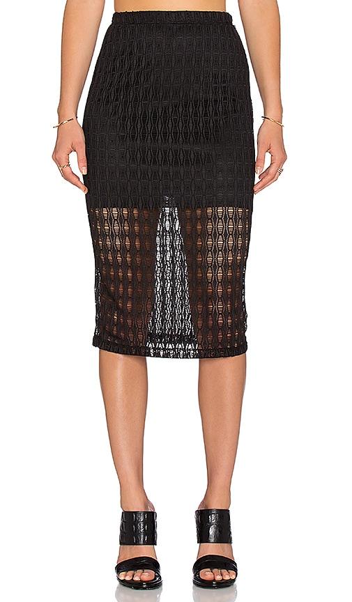 11348ad9b2 WAYF Crochet Pencil Skirt in Black | REVOLVE