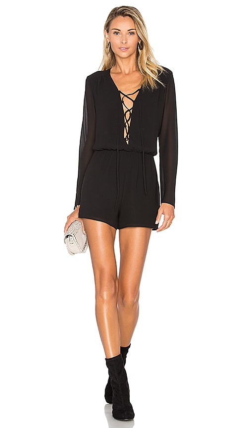 Sabin Lace Up Romper