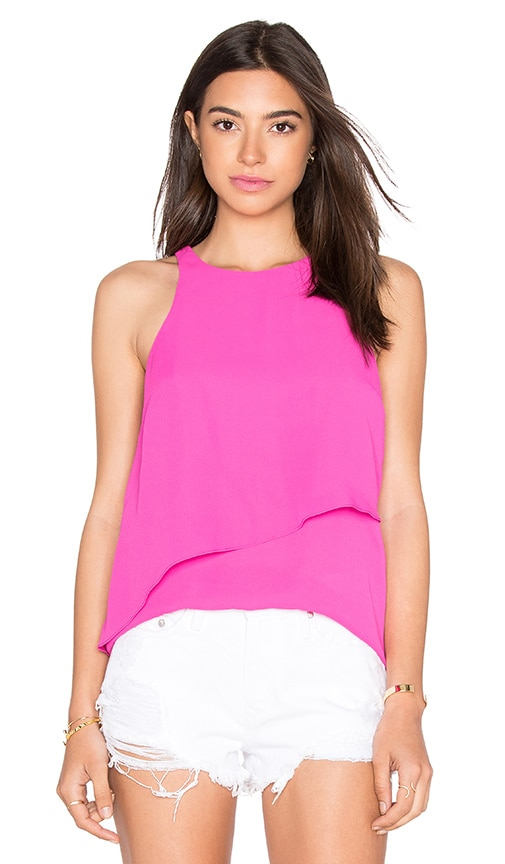 WAYF Overlay Tank in Pink