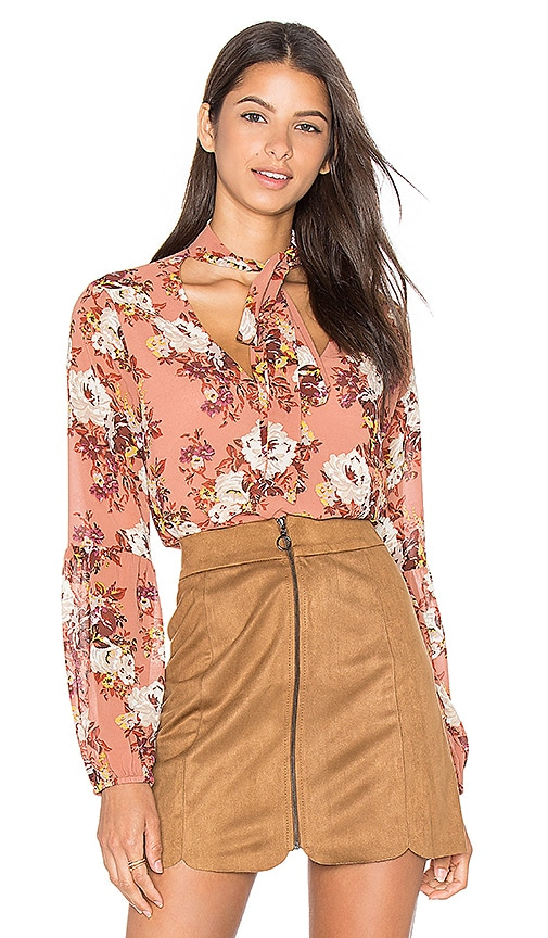 WAYF Newbury Blouse in Mauve