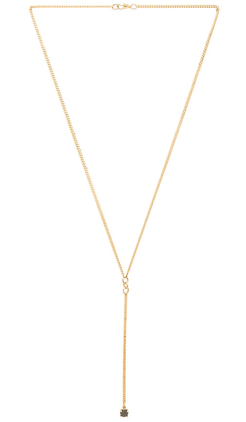 WOLF CIRCUS Stone Lariat Necklace in Metallic Gold