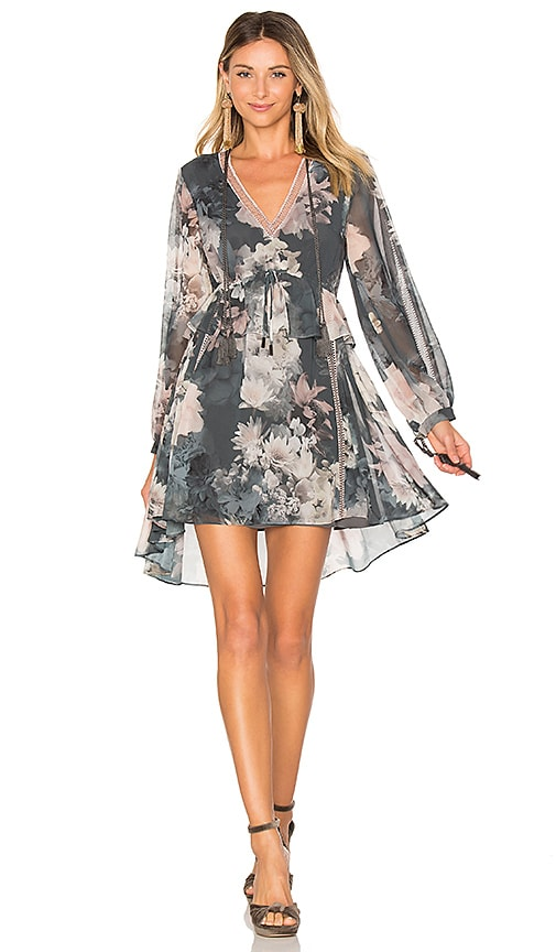 We Are Kindred Alanah Frill Dress in Gray