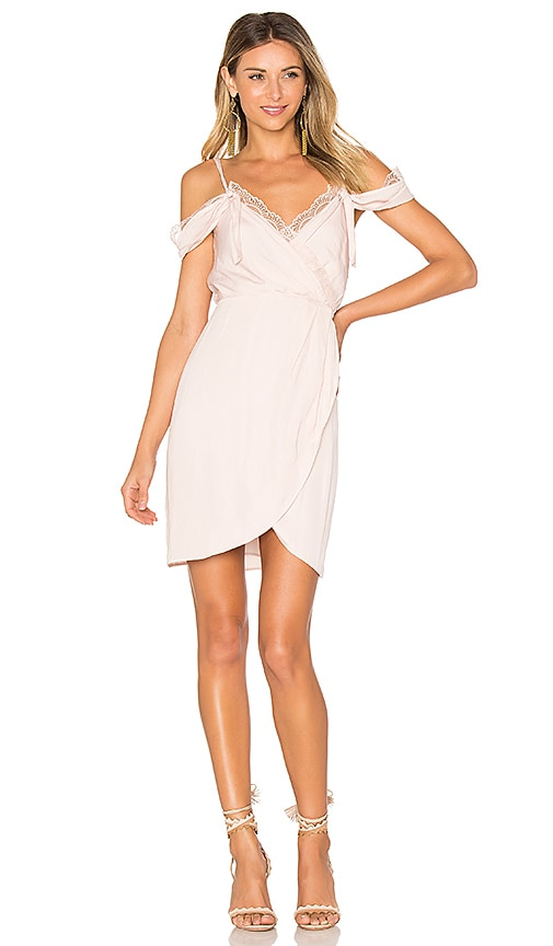 We Are Kindred Claudia Cold Shoulder Dress in Pink