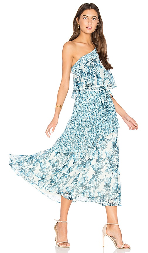We Are Kindred Iris Flutter Dress in Blue