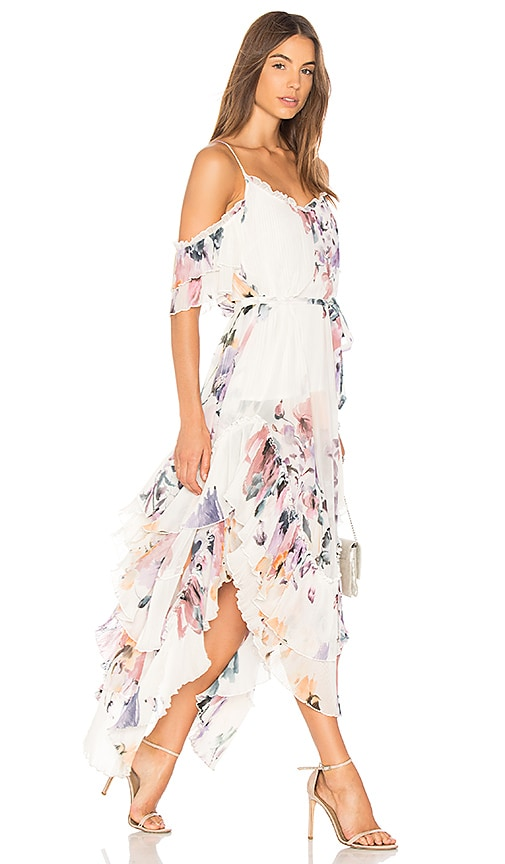 We Are Kindred Catarina Pleat Maxi Dress in White