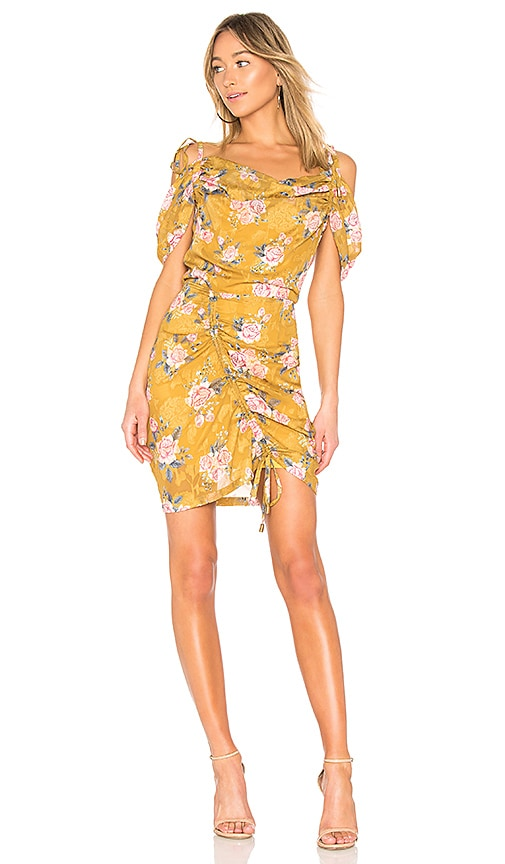 We Are Kindred Mabel Cold Shoulder Dress in Yellow