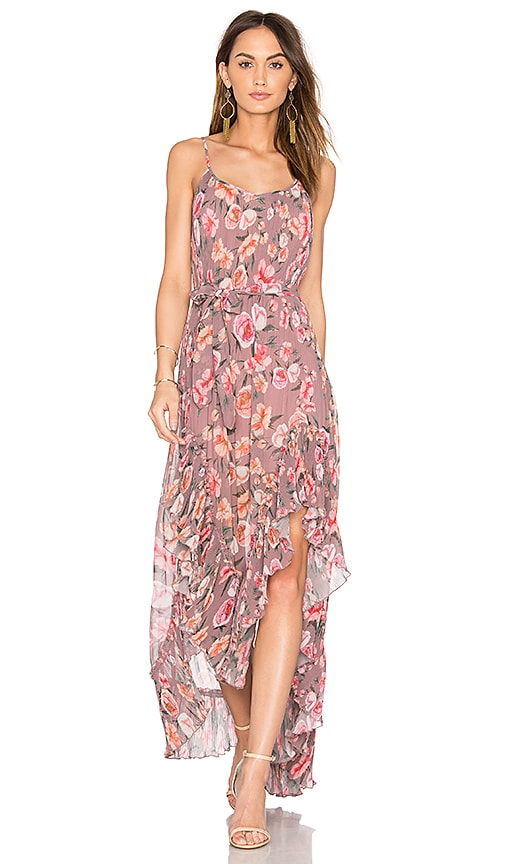 We Are Kindred Maggie Pleat Maxi Dress in Pink