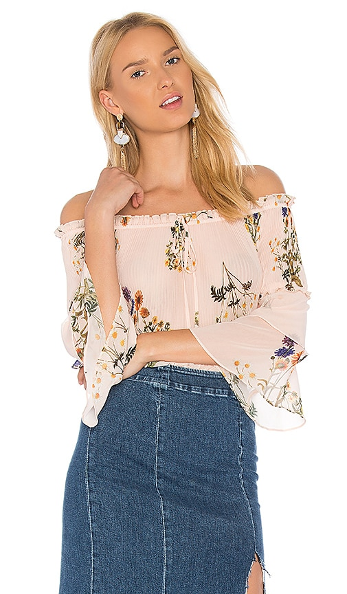 We Are Kindred Country Field Off Shoulder Top in Blush