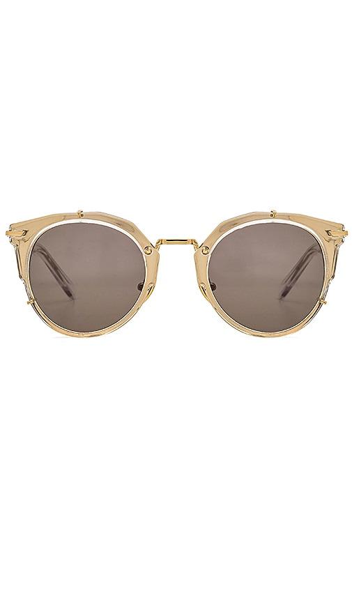 WESTWARD LEANING Sphinx Sunglasses in Metallic Gold
