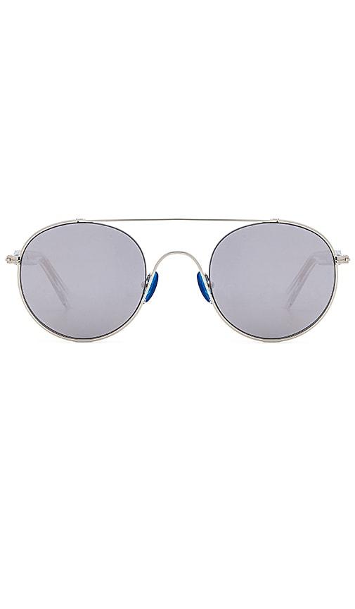 WESTWARD LEANING Cellophane Disco Sunglasses in Metallic Silver
