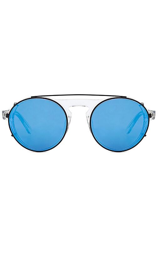 WESTWARD LEANING Dyad Sunglasses in Metallic Silver