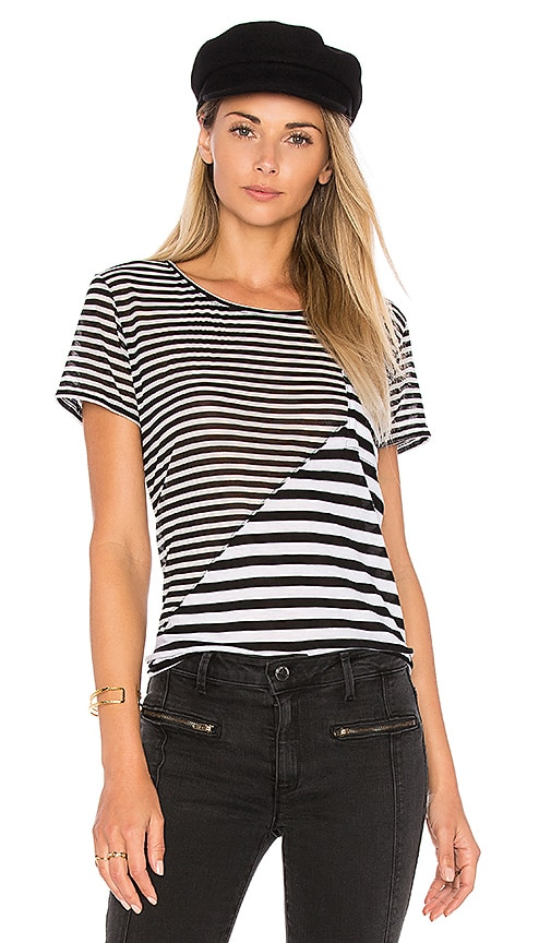 Weslin + Grant Stripe Tee in Black